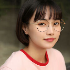 Women Men Large Oversized Metal Frame Clear Lens Vintage Retro Eye Glasses