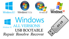 WINDOWS 10, 8.1,8, 7, VISTA ALL VERSIONS UPGRADE✅64GB USB 32/64bit✅Installation