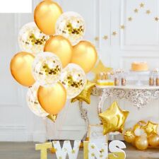 Confetti Balloons Gold Rose Champagne Birthday Wedding Party Decoration 12 inch