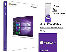 WINDOWS 10 ALL VERSIONS UPGRADE✅Home Pro Enterprise ✅64GB USB 32/64bit✅ INSTALL