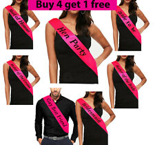 Bride To Be Sash Hen Party Sashes Team  Wedding Girls Night Out Party BRIGH PINK