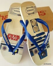f8a93174f83455 HAVAIANAS NEW MENS THONGS FLIP FLOPS SANDALS STAR WARS WHITE BLUE STAR SURF  LOGO