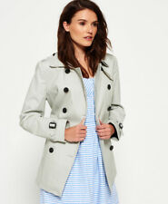 New Womens Superdry Summer Belle Trench Coat Stone