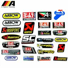 3D Aluminum Heat-resistant Motorcycle Exhaust Pipe Decal Sticker For Scorpio