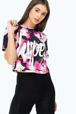 Hype Women's These Flowers Crop T-Shirt Multi-Coloured