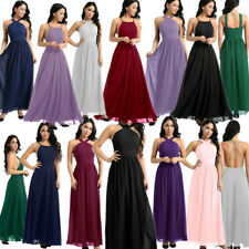 2019 Womens Chiffon Maxi Dress Formal Wedding Party Evening Bridesmaid Prom Gown
