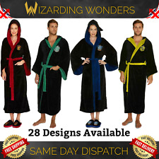 Official Harry Potter Dressing Gown Bath Robe Mens Womens Gryffindor Slytherin