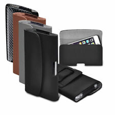 Horizontal Belt PU Faux Leather Holster Case for Vodafone Land Rover Explore
