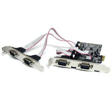 StarTech.com PEX4S553 4 Port Native PCI Express RS232 Serial Adapter Card with