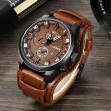 Curren Mens Army Military Quartz Watches Luxury Stainless Steel Leather Watch