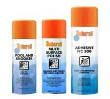 AMBERSIL POOL AND SNOOKER TABLE CLOTH CLEANER / MULTI SURFACE POLISH / ADHESIVE