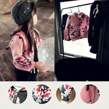 Floral Long Sleeve Jacket Coat Girls Outerwear Fashion Spring Autumn 2018 Pro