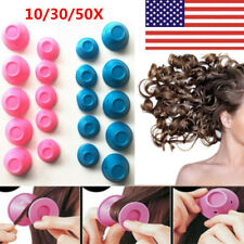 10/30/50X Silicone Hair Curlers Rollers No Clip Formers Styling Curling DIY Tool