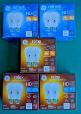 GE LED RELAX Refresh HD Light Soft White Daylight Dimmable A19 Bulbs Lumens