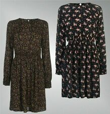 Ladies Branded Full Circle High Neck Long Sleeves Mid Length Print Dress 8-18