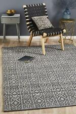 Transitional Rug Wool Handwoven Rustic Floor Cover Carpet Mat Thick Soft Pile