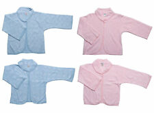 Bed Jacket Ladies Button Up Floral or Hearts Acrylic Peter Pan Collar Housecoat
