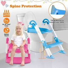 Baby Kids Training Toilet Potty Trainer Seat Chair Toddler Ladder Step Up Stool