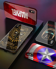 For iPhone Xs Max Xr 8 6+ Marvel Avengers Super Hero Comics Captain America Case