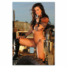 Hot Sexy Model Girl with Guns Big Ass Bkini Fabric Decor Poster B708