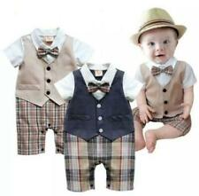 Plaid Shorts, Waistcoat, Short Sleeve Shirt and Matching Bow Tie Outfit