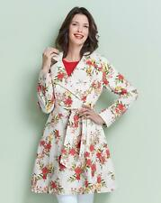 Womens Printed Fit and Flare Mac - Simply Be