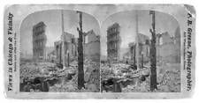 Reproduction,Ruins,Great Fire,Chicago,Illinois,Disaster,Washington Street,1871