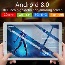 New 10.1 Inch Android 8.0 Ten-Core Tablet PC 64GB WIFI Bluetooth HD Touch Screen