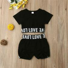 Love Crop Top and Shorts Pants Set