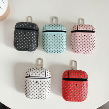 For Apple AirPods 1&2 Charging Case Wave Point PU Leather Case Protective Cover