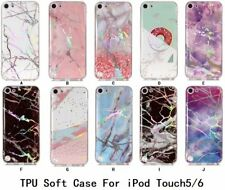 For Apple iPod Touch 5th & 6th Gen Generation Marble stone soft TPU silicon Case
