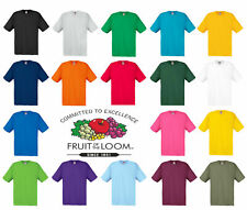 Fruit Of The Loom T Shirts Short Sleeve Cotton Plain Tee Shirt Men Women UK S-XL