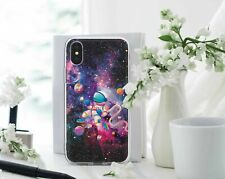 Space iPhone XR Silicone Case Astronaut iPhone 6s 7 8 Plus Cover Galaxy Gel Case