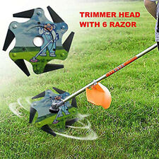 Trimmer Head 6 Steel Blades Razors 65Mn Lawn Mower Grass Weed Eater Brush Cutter