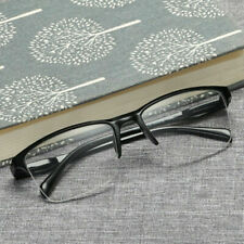 Fashion Unisex Half Frame Transparent Reading Glasses +4.0 +0.25 to Eyewear S3Q2