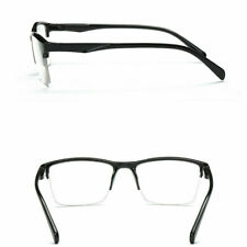 Fashion Unisex Half Frame Transparent Reading Glasses Eyewear to +4.0 +0.25 B7Y1