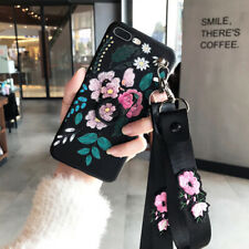 Luxury Flower PU Leather Case with Ring Holder Cover For iPhone X XS Max XR 8 7