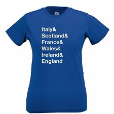 The Six Nations Womens TShirt Italy, Scotland, France Wales, Ireland, England