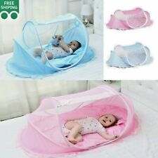 Baby Travel Bed Mosquito Net with Cushion Pillow Babies Crib Infant Kids Tent