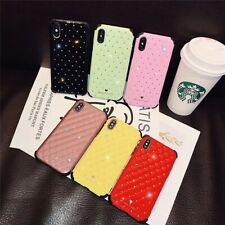 Luxury Bling Diamond Leather Shockproof Bumper Case for iPhone XS XR MAX 78 Plus