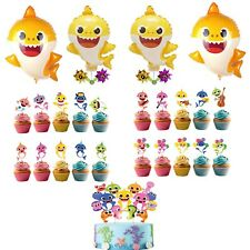 Baby Shark Cupcake Toppers + Baby Shark Balloons Collection : Choose you want!