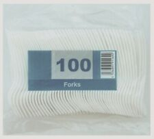 BRAND NEW WHITE DISPOSABLE CUTLERY PARTY PLASTIC FORKS / HIGH QUALITY