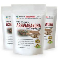 Ashwagandha Extract Capsules - Ultra Strength 31mg Withanolides (Indian Ginseng)