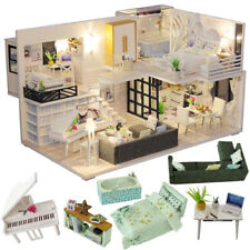 Dollhouse Wooden DIY Doll Houses Miniature Doll House Furniture Kit
