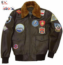 TOP GUN TOM CRUISE A2 (2020) JET PETE MAVERICK FIGHTER BOMBER LEATHER JACKET