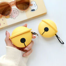 Cute Bell Silicone Skin Cover for Apple AirPods Pro 1&2 Charging Case Keychain