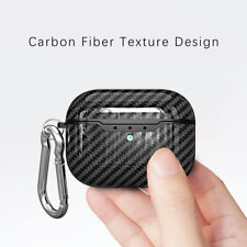 For Apple AirPods Pro Case Carbon Fiber TPU Shockproof Charging Skin Case Cover