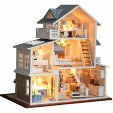 Dollhouse Wooden Doll Houses Miniature Doll House Furniture DIY Kit
