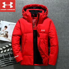 Under armour winter men's ua down hooded jacket down coat parka aaa quality