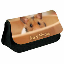 Personalised NAME Hamster Printed Pencil Case for Stationery/Cosmetic - 4
